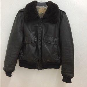 VT 1950s US B15 Bomber Leather Jacket 092501